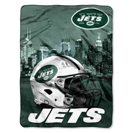1NFL071030015RET: NW NFL HERITAGE SILK THROW, JETS